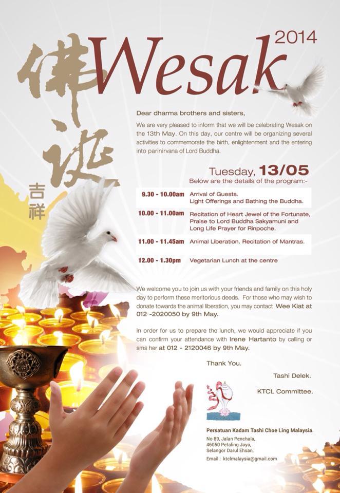 Wesak Day Celebration 2014
